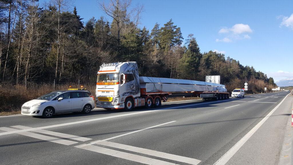 Transport von Langfracht
