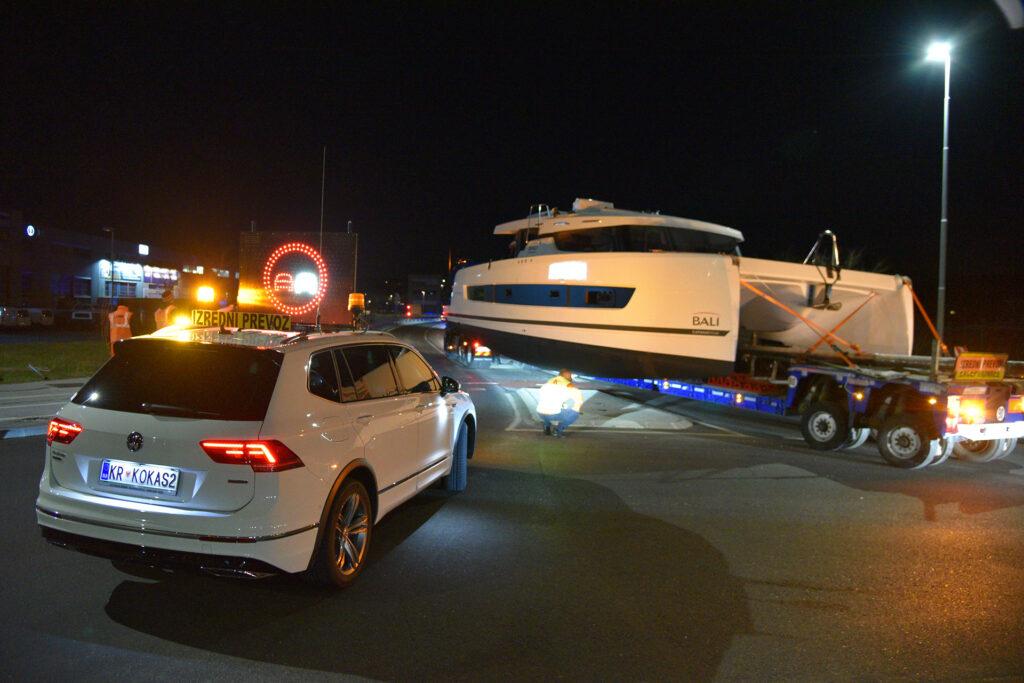 Transport von breiter Fracht